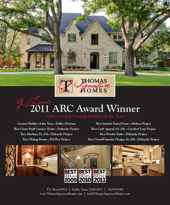 Award Winning Dallas Custom Home Builder Thomas